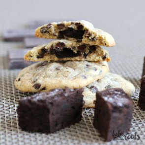 Brownie Stuffed Chocolate Chip Cookies | Bake to the roots