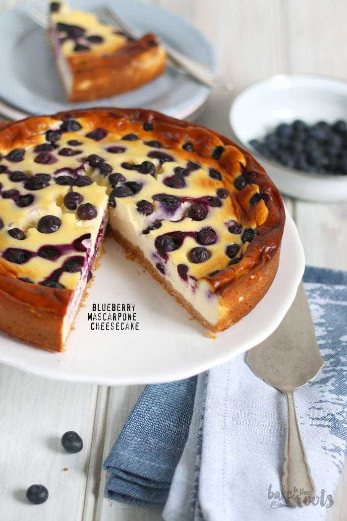 Blueberry Mascarpone Cheesecake | Bake to the roots