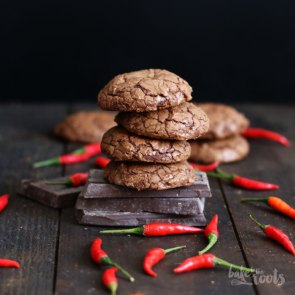 Double Chocolate Chili Lava Cookies | Bake to the roots