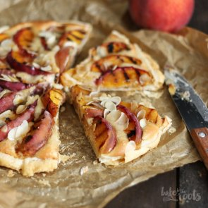 Frangipane with Grilled Peaches | Bake to the roots