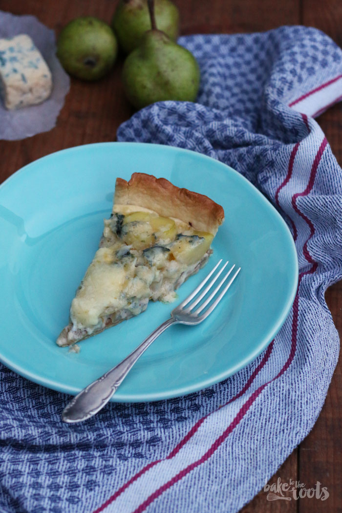 Blue Cheese Pear Potato Tart | Bake to the roots