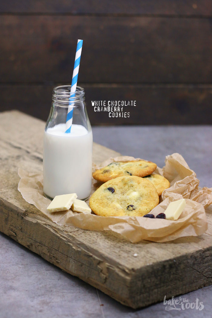 White Chocolate Cranberry Cookies | Bake to the roots