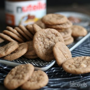 Mini Nutella White Chocolate Cookies | Bake to the roots