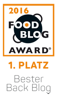 Food Blog Award 2016 - Bester Back Blog