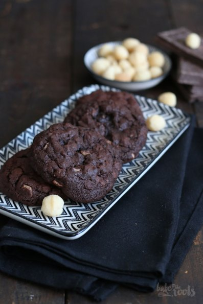 Double Chocolate Macadamia Nut Cookies   Bake to the roots