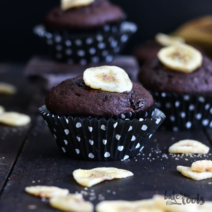 Double Chocolate Banana Muffins | Bake to the roots