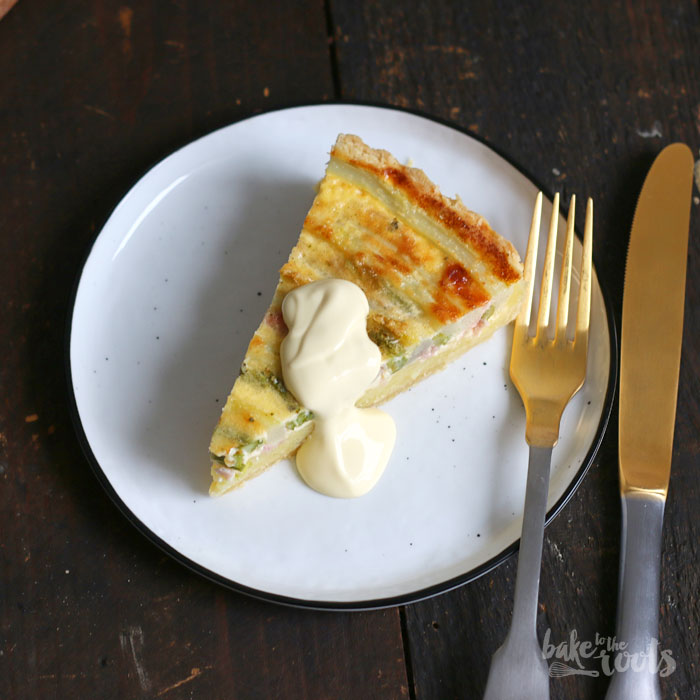Asparagus Potato Quiche | Bake to the roots