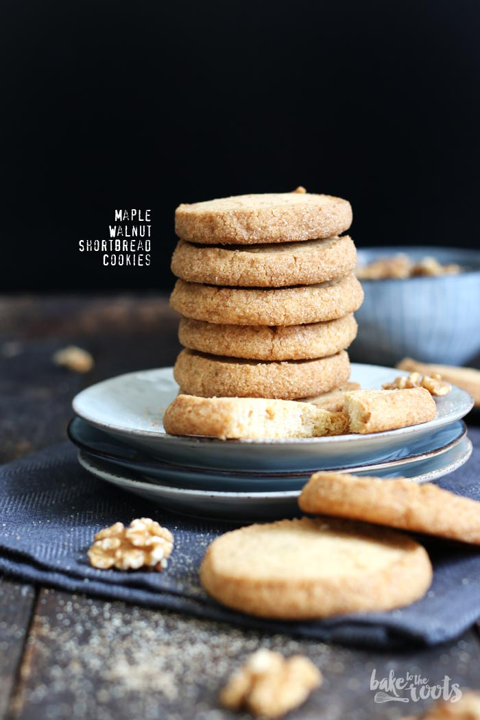 Maple Walnut Shortbread Cookies | Bake to the roots