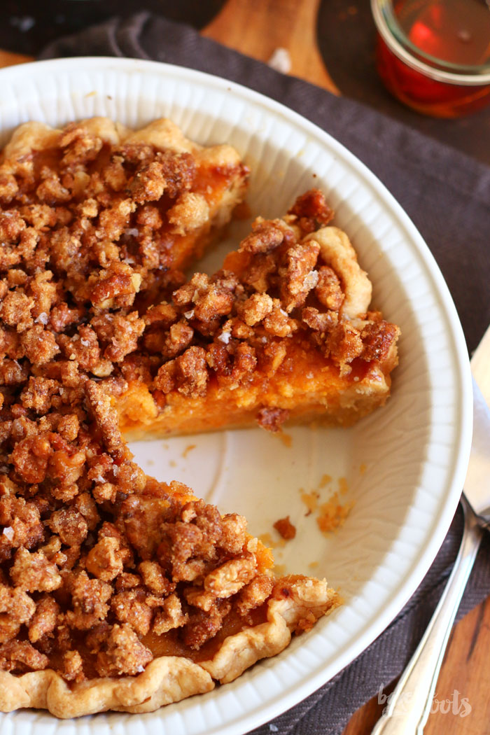 Sweet Potato Maple Walnut Pie | Bake to the roots