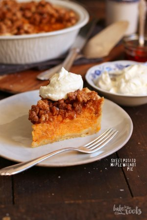 Sweet Potato Maple Walnut Pie
