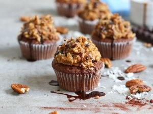 German Chocolate Cupcakes   Bake to the roots