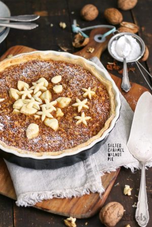 Salted Caramel Walnut Pie
