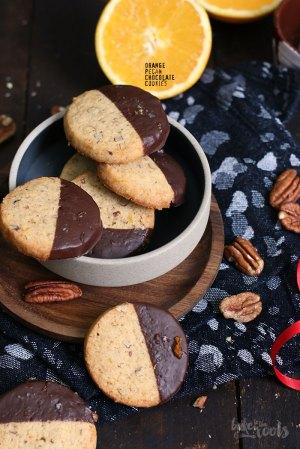 Orange Pekannuss Schokolade Cookies