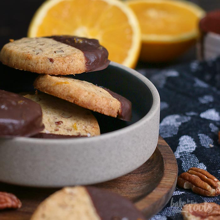 Orange Pecan Chocolate Cookies | Bake to the roots
