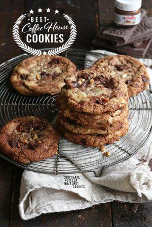 Coffee House Cookies – Chocolate Nutella Hazelnut Cookies