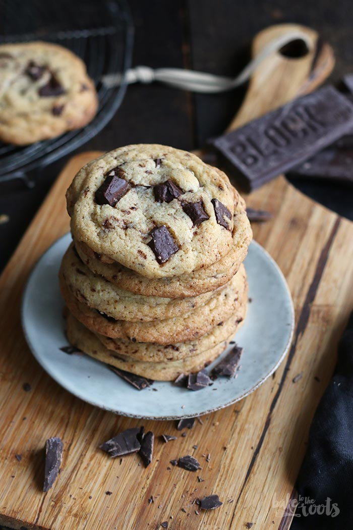 Chunky Chocolate Cookies | Bake to the roots