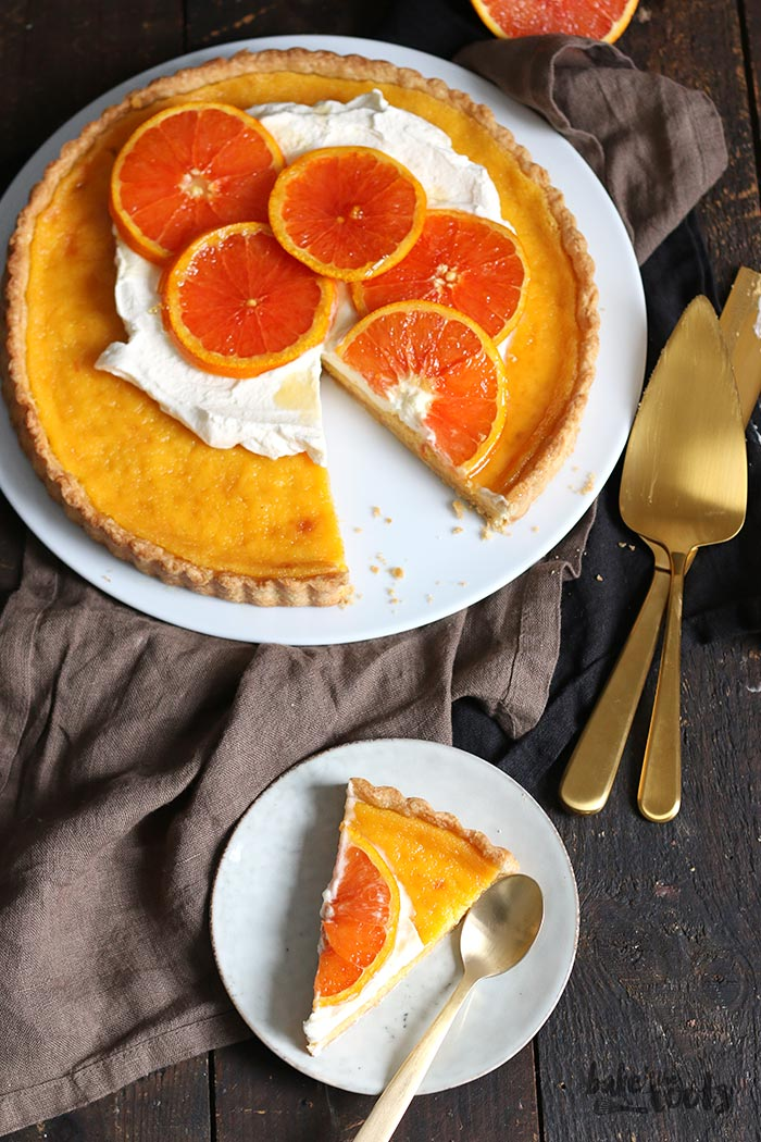 Orange Tart with Caramelized Oranges | Bake to the roots
