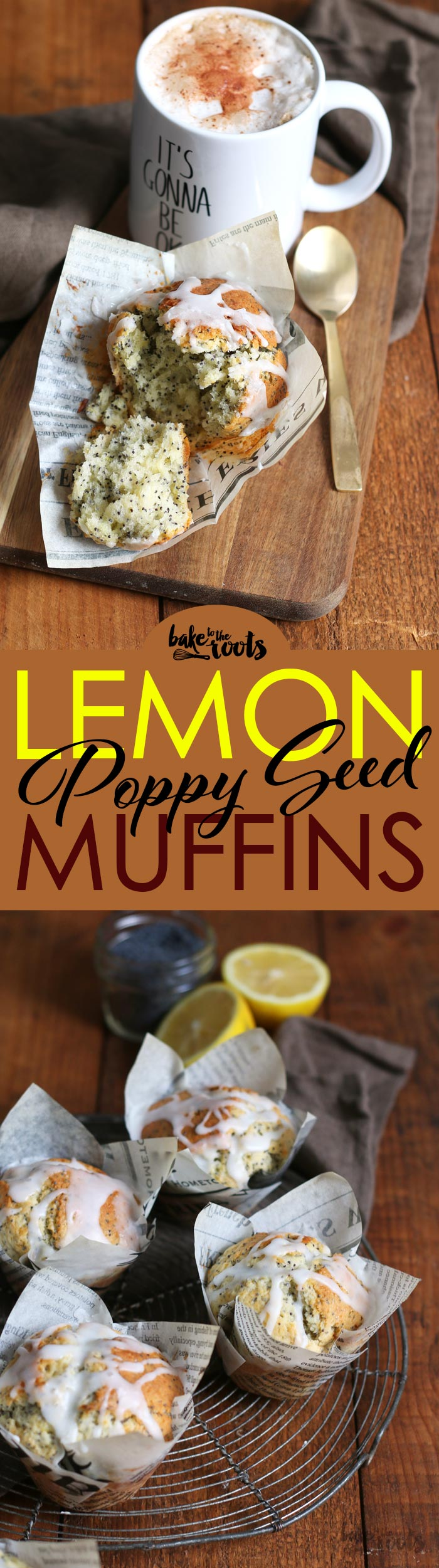 Delicious coffee house style Lemon Poppy Seed Muffins | Bake to the roots