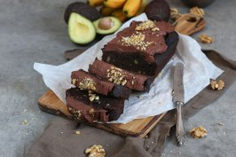 Avocado Banana Walnut Chocolate Cake | Bake to the roots