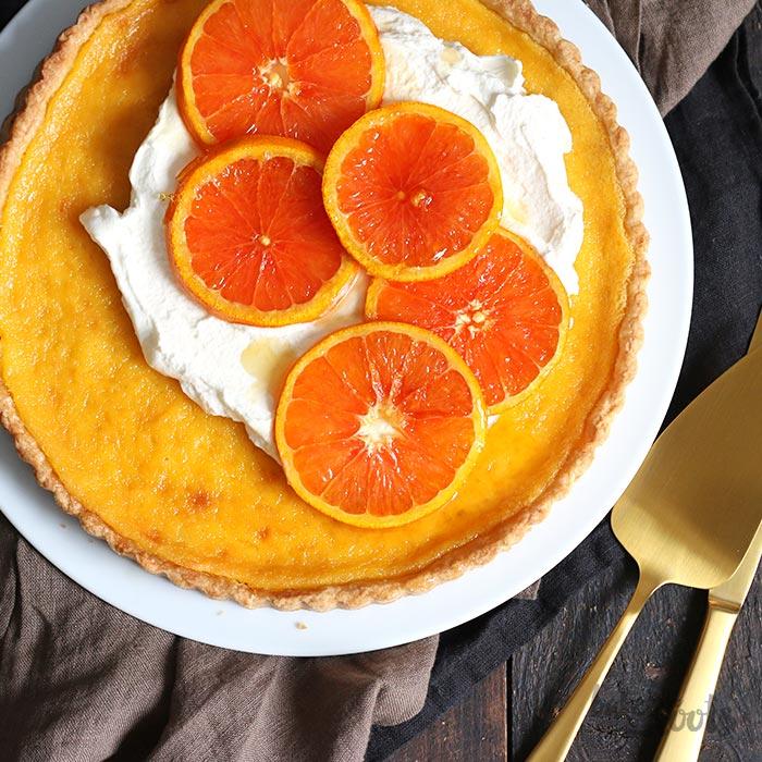 Orange Tart with Caramelized Oranges | Bake to the roots