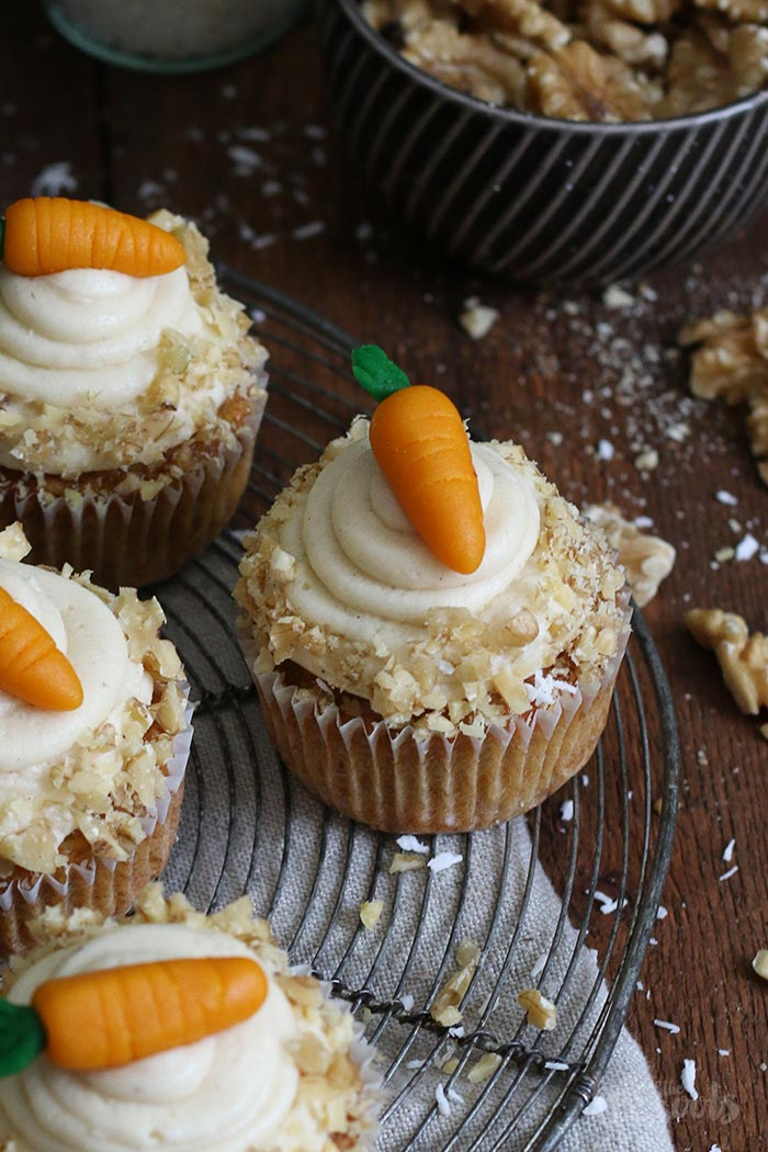 Carrot Cake Cupcakes   Bake to the roots
