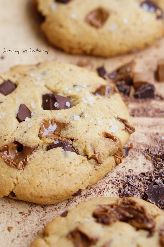 Peanut Butter Cookies mit Chocolate Chunks | www.jennyisbaking.com