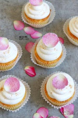 Wedding Cupcakes mit Rosenwasser
