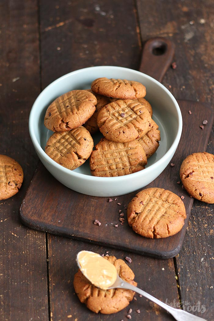 (Healthy) Peanut Butter Cookies   Bake to the roots