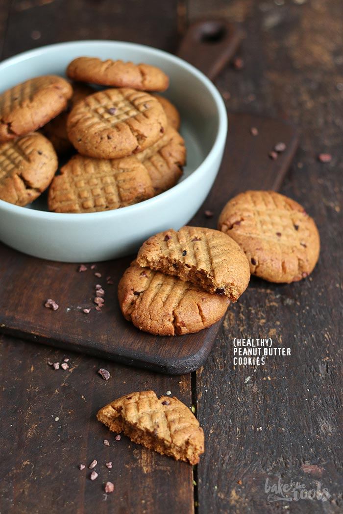 51b24aae6e (Healthy) Peanut Butter Cookies | Bake to the roots