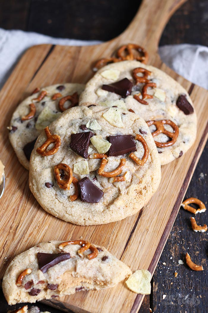 Peanut Butter Stuffed XXL Cookies | Bake to the roots