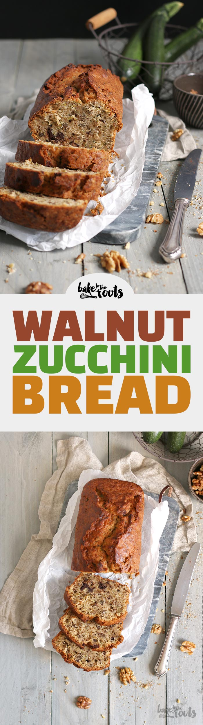 Walnut Zucchini Bread | Bake to the roots