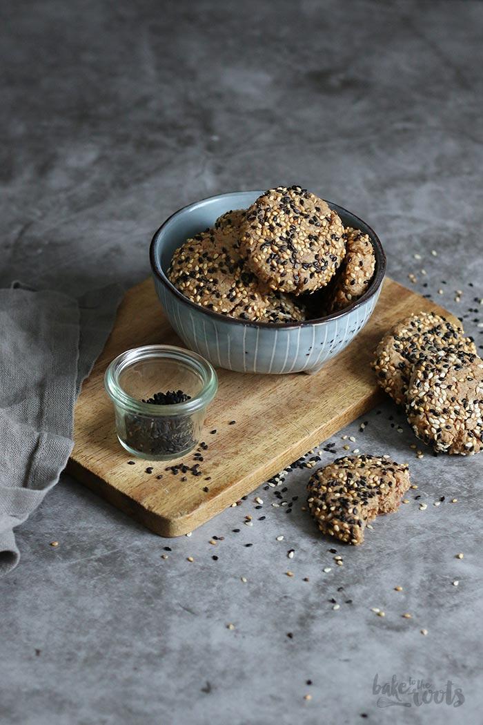 Almond Tahini Cookies (sugar-free) | Bake to the roots