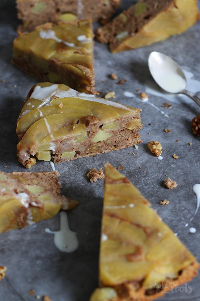 Upside Down Apfelkuchen (Zuckerfrei) | Bake to the roots