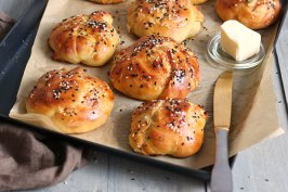 Ham & Cheese Challah Knots | Bake to the roots