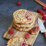 Rhubarb Raspberry Cookies | Bake to the roots