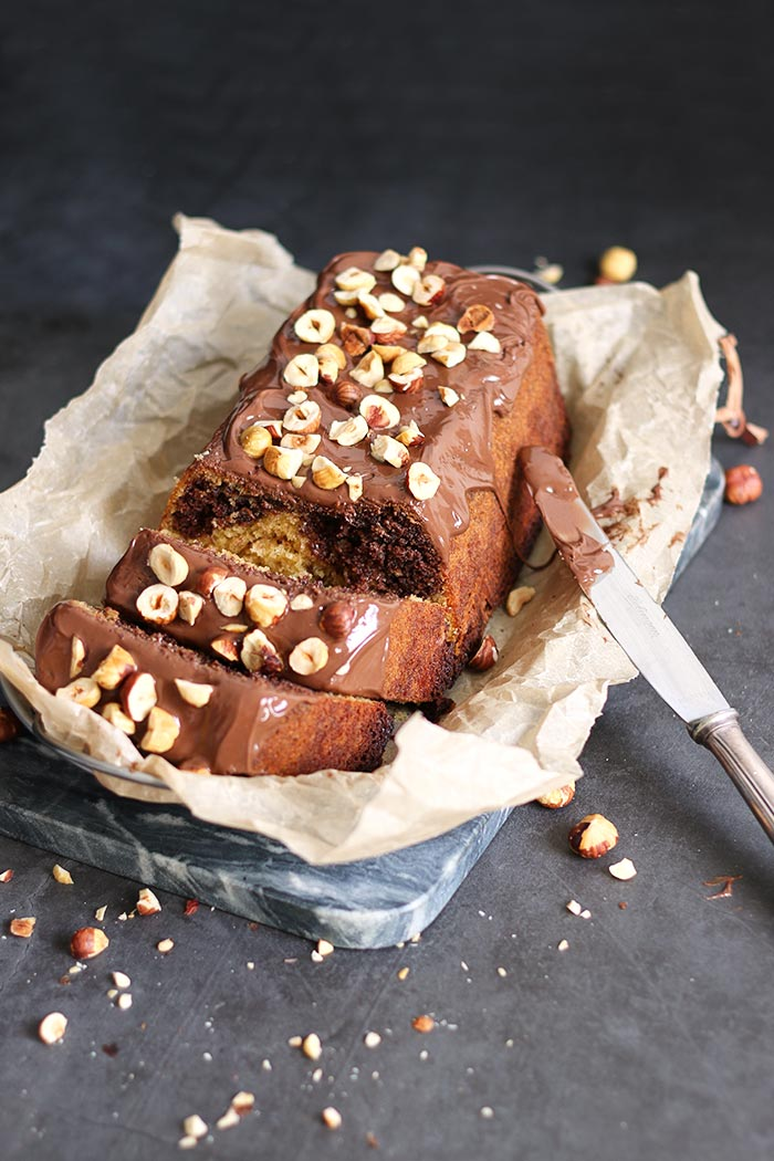 Nutella Loaf Cake with Hazelnuts   Bake to the roots