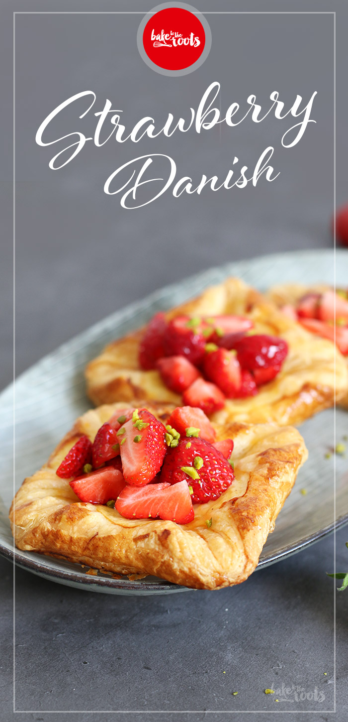 Strawberry Vanilla Custard Danish | Bake to the roots