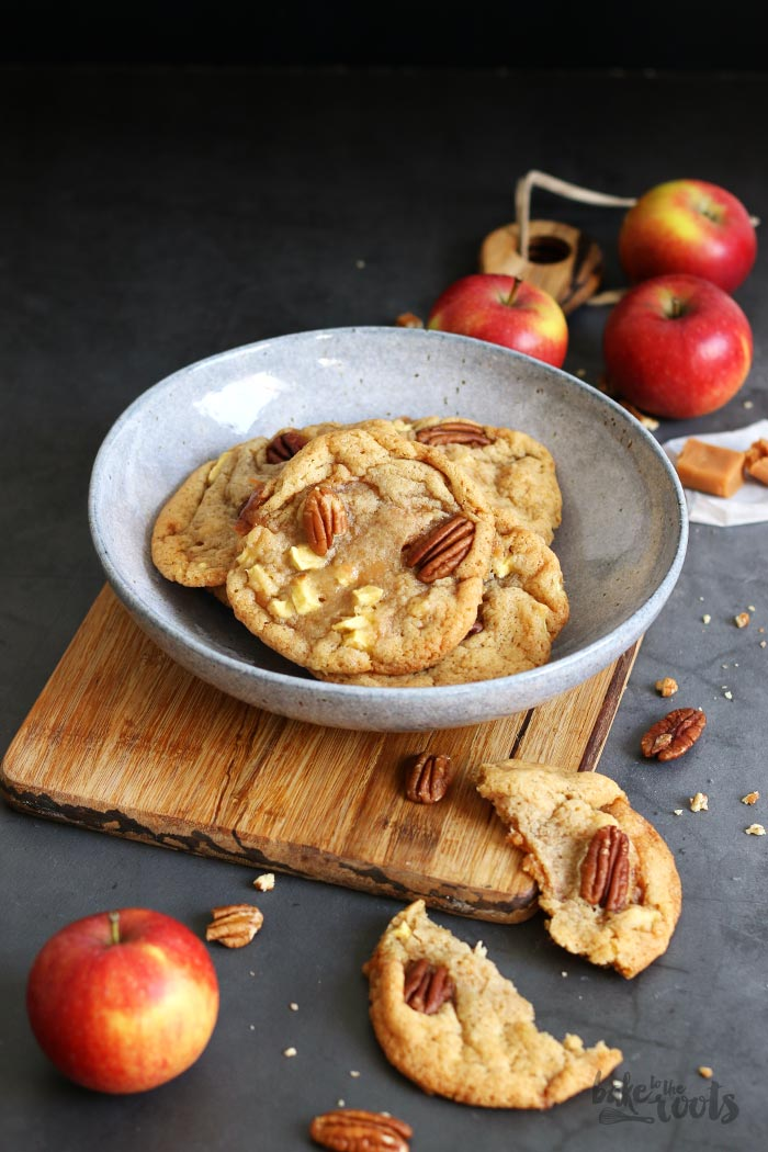 Caramel Apple Pecan Cookies | Bake to the roots