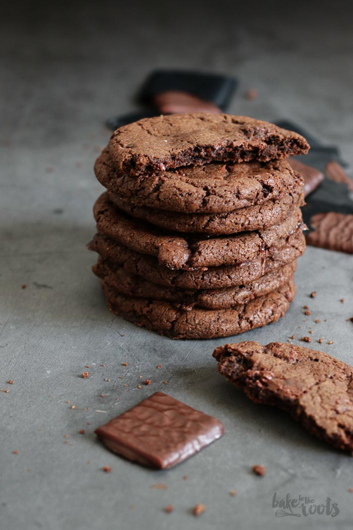 Double Chocolate After Eight Cookies | Bake to the roots