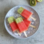 Watermelon Kiwi Popsicles | Bake to the roots