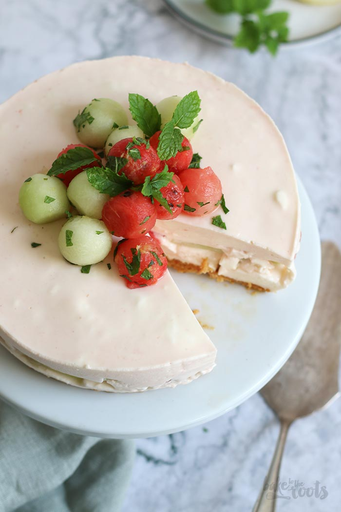 No-Bake Melon Cheesecake | Bake to the roots
