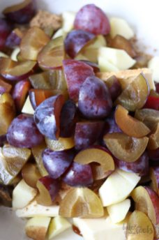 (Wholemeal) Damson Plum Apple Cobbler   Bake to the roots