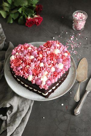 Valentine's Day Chocolate Heart Cake