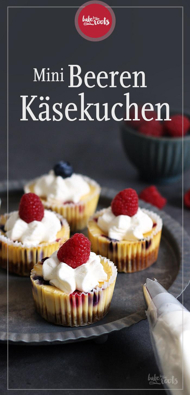 Mini Beeren Käsekuchen | Bake to the roots
