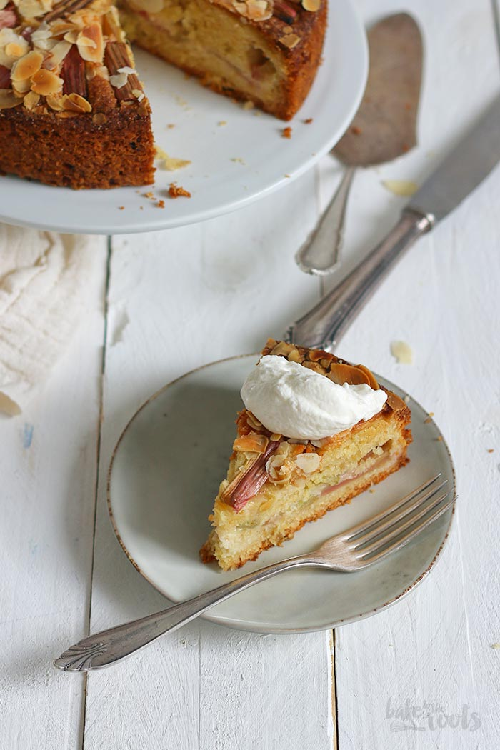 Rhubarb Almond Cake Bake To The Roots