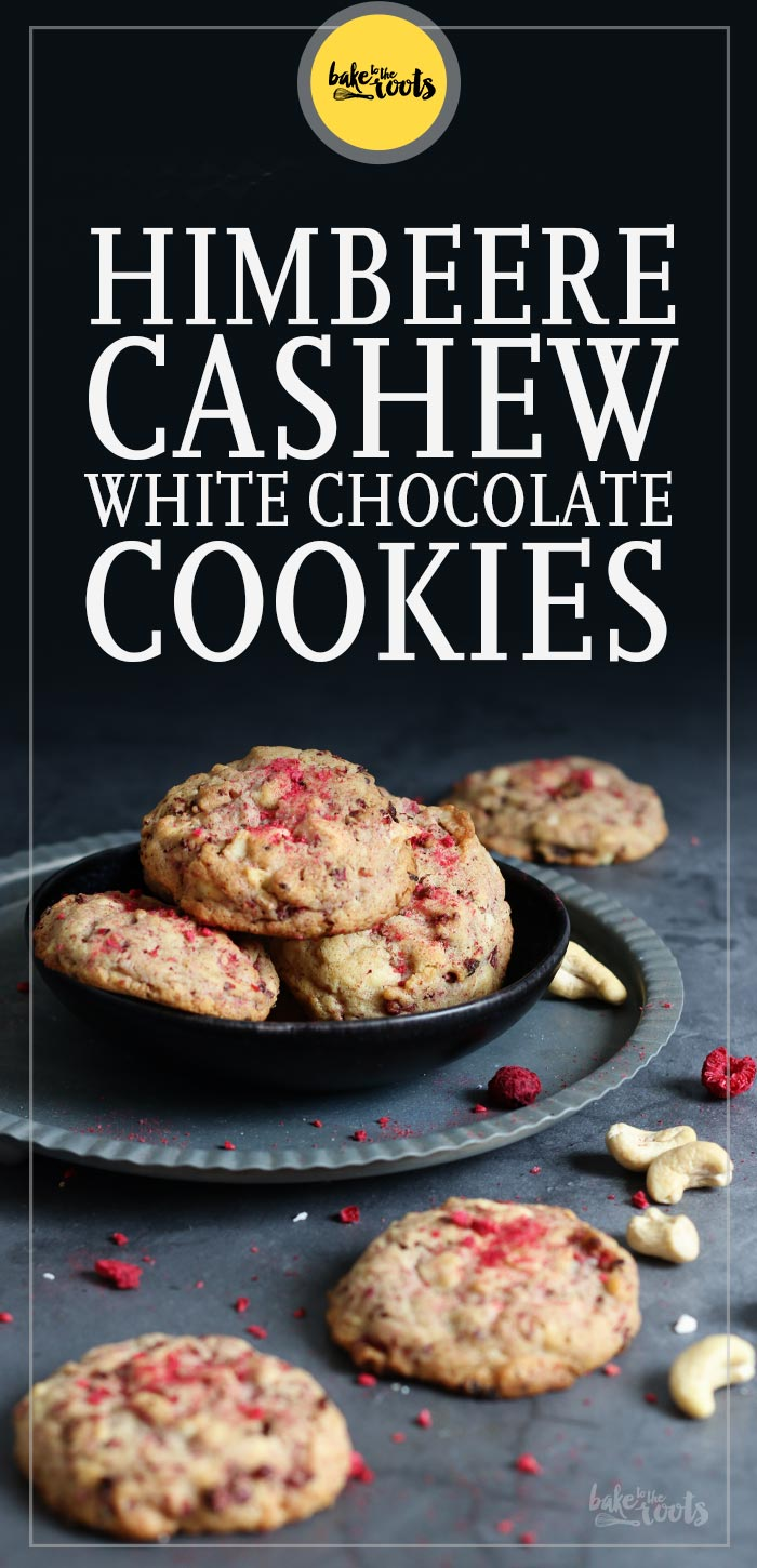 Himbeere Cashew White Chocolate Cookies | Bake to the roots