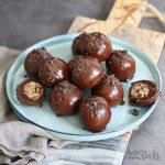 Cookie Dough Brownie Balls | Bake to the roots