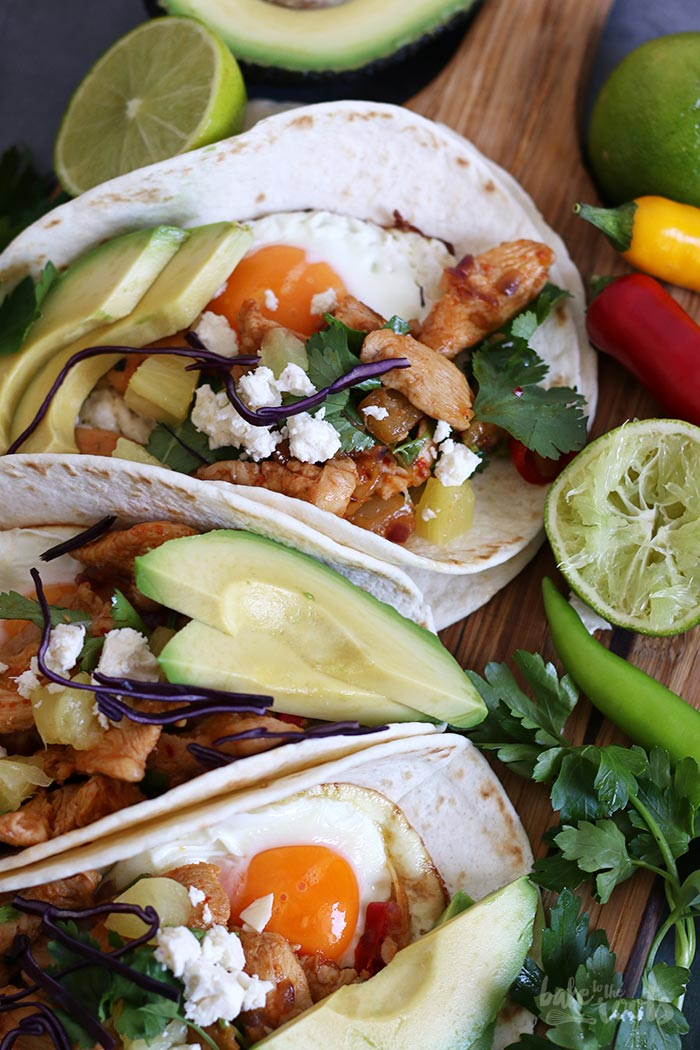 Breakfast Tacos with Chicken  . Bake to the roots
