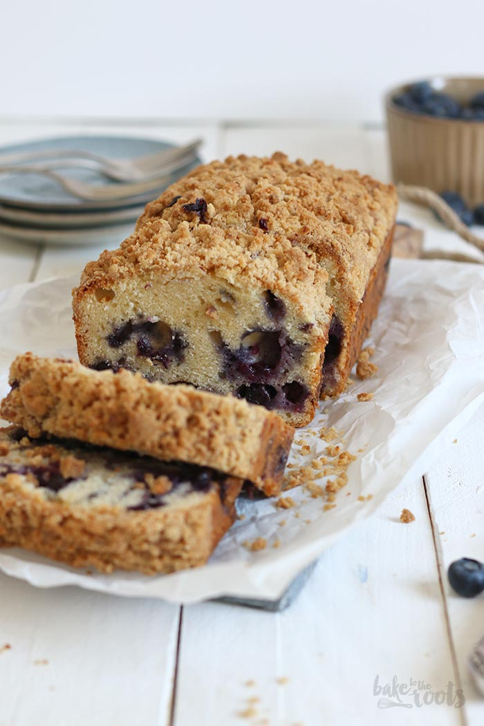 Blueberry Streusel Loaf Cake | Bake to the roots