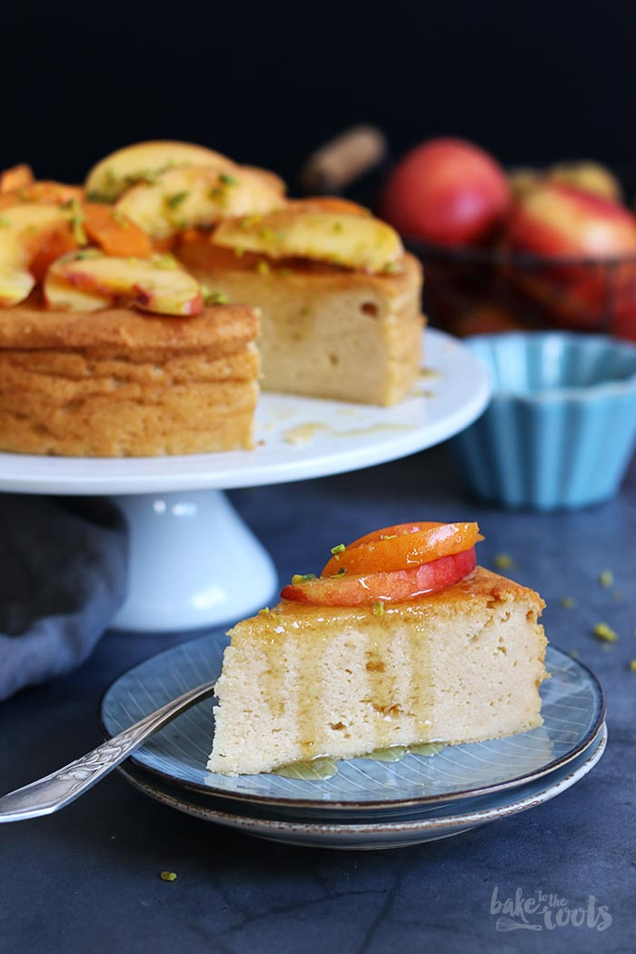 Ricotta Cheesecake with Nectarines and Apricots | Bake to the roots